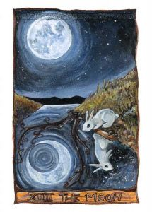 Tarot Writing Prompt: If the Moon Were Your Writing Coach - Voice